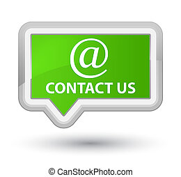 Contact us (email address icon) prime soft green banner button