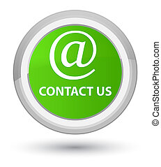 Contact us (email address icon) prime soft green round button