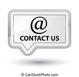 Contact us (email address icon) prime white banner button