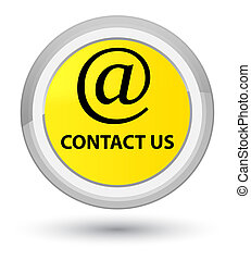Contact us (email address icon) prime yellow round button
