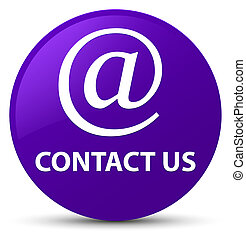 Contact us (email address icon) purple round button