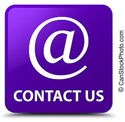 Contact us (email address icon) purple square button
