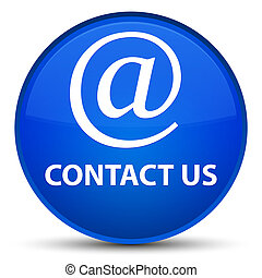 Contact us (email address icon) special blue round button