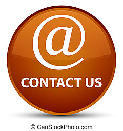 Contact us (email address icon) special brown round button