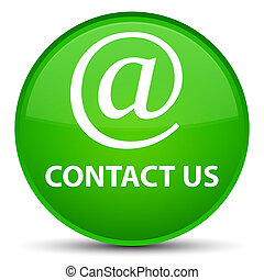 Contact us (email address icon) special green round button