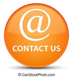Contact us (email address icon) special orange round button