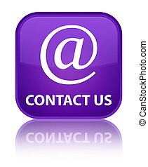 Contact us (email address icon) special purple square button