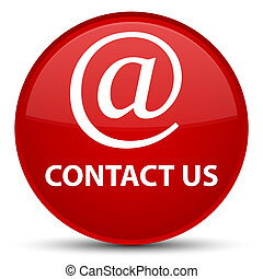 Contact us (email address icon) special red round button