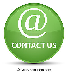 Contact us (email address icon) special soft green round button