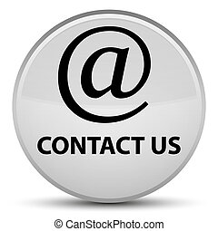 Contact us (email address icon) special white round button