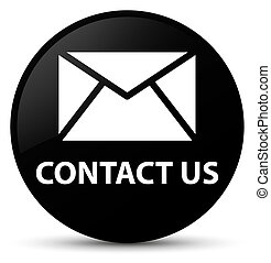 Contact us (email icon) black round button