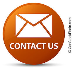Contact us (email icon) brown round button
