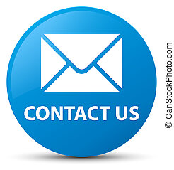 Contact us (email icon) cyan blue round button