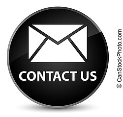 Contact us (email icon) elegant black round button