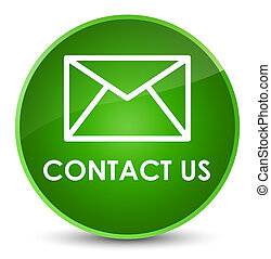 Contact us (email icon) elegant green round button