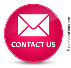Contact us (email icon) elegant pink round button
