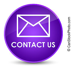 Contact us (email icon) elegant purple round button