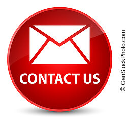 Contact us (email icon) elegant red round button