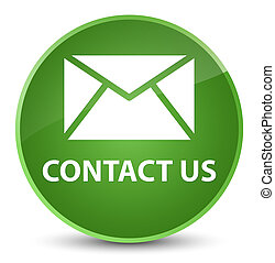 Contact us (email icon) elegant soft green round button