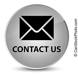 Contact us (email icon) elegant white round button