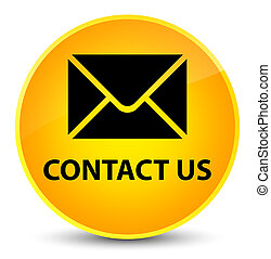 Contact us (email icon) elegant yellow round button