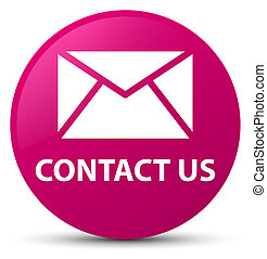 Contact us (email icon) pink round button