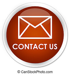 Contact us (email icon) premium brown round button