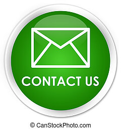 Contact us (email icon) premium green round button