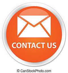 Contact us (email icon) premium orange round button