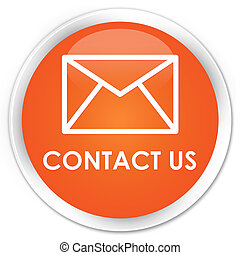 Contact us (email icon) premium orange round button