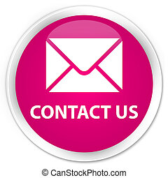 Contact us (email icon) premium pink round button