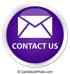Contact us (email icon) premium purple round button