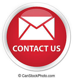 Contact us (email icon) premium red round button