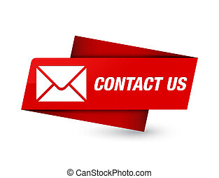 Contact us (email icon) premium red tag sign
