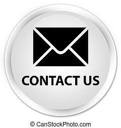 Contact us (email icon) premium white round button