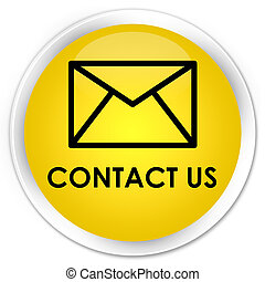 Contact us (email icon) premium yellow round button