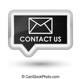 Contact us (email icon) prime black banner button