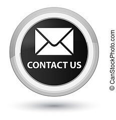Contact us (email icon) prime black round button