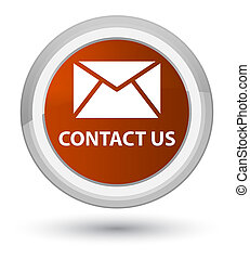 Contact us (email icon) prime brown round button