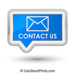 Contact us (email icon) prime cyan blue banner button