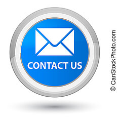 Contact us (email icon) prime cyan blue round button