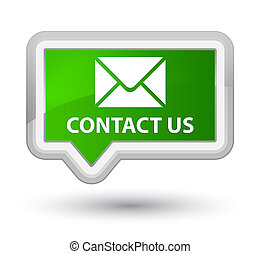 Contact us (email icon) prime green banner button