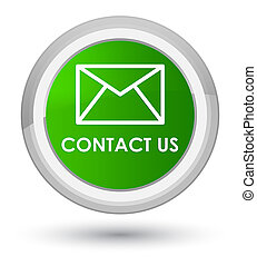 Contact us (email icon) prime green round button