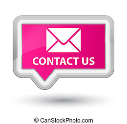 Contact us (email icon) prime pink banner button