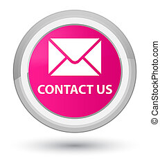 Contact us (email icon) prime pink round button
