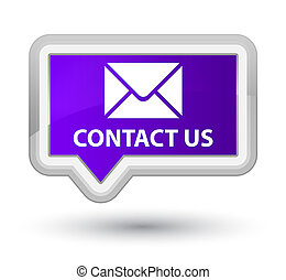 Contact us (email icon) prime purple banner button