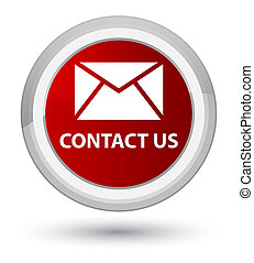 Contact us (email icon) prime red round button