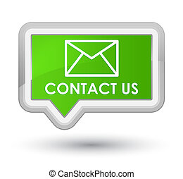 Contact us (email icon) prime soft green banner button