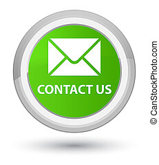 Contact us (email icon) prime soft green round button