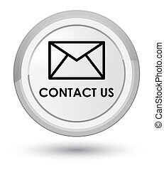 Contact us (email icon) prime white round button